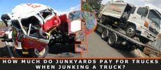 How Much Do Junkyards Pay For Trucks When Junking a Truck?